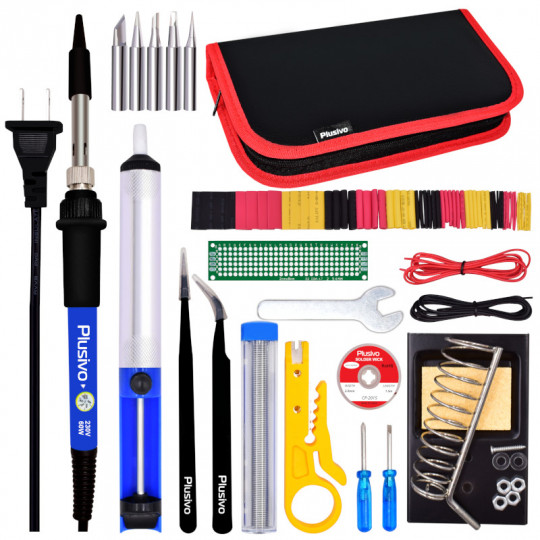 Plusivo Soldering Kit For Electronics (220-230 V, Plug Type A)