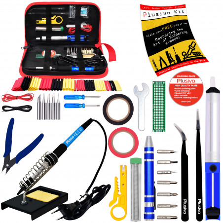 Plusivo Soldering Kit with Diagonal Wire Cutter (230 V,  EU Plug)