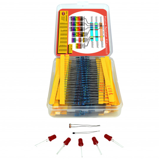 Plusivo Resistor Assortment Kit - 10 Ω to 1 MΩ (600pcs)