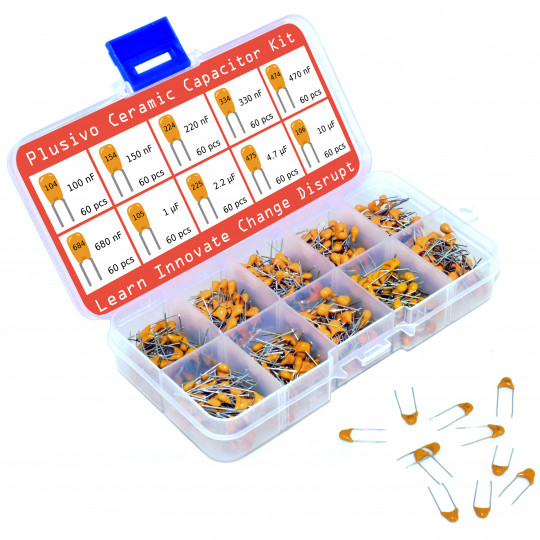 Plusivo Ceramic Capacitor Assortment Kit