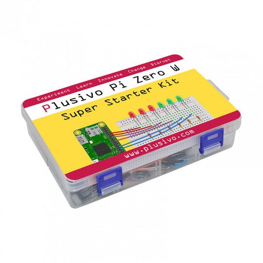 Plusivo Pi Zero W Super Starter Kit with Raspberry Pi Zero WH and 16 GB sd card with NOOBs