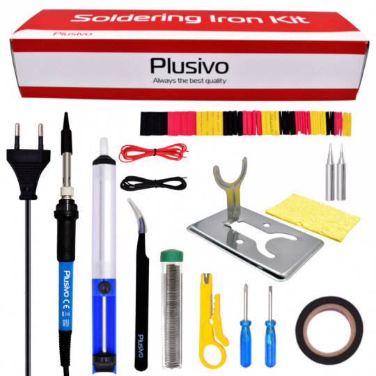 Plusivo Basic Soldering Kit for Electronics (230 V, Plug Type: EU)