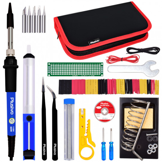Plusivo Soldering Kit For Electronics (110 V, Plug Type: US)