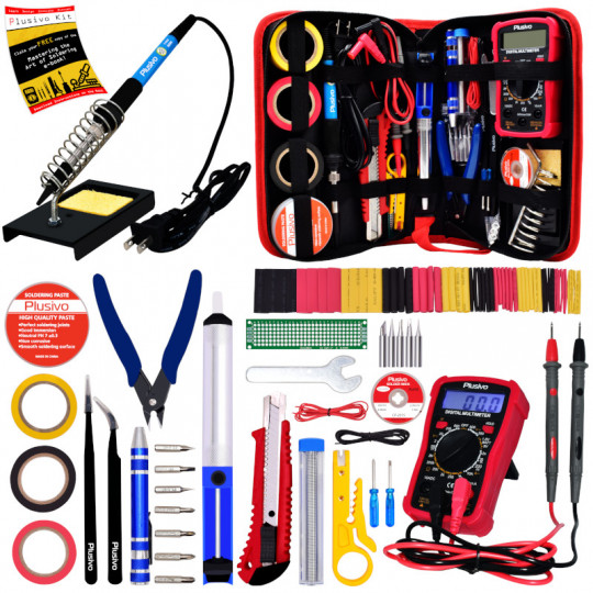 Plusivo Soldering Iron Kit with Digital Multimeter (110 V, Plug Type: US )