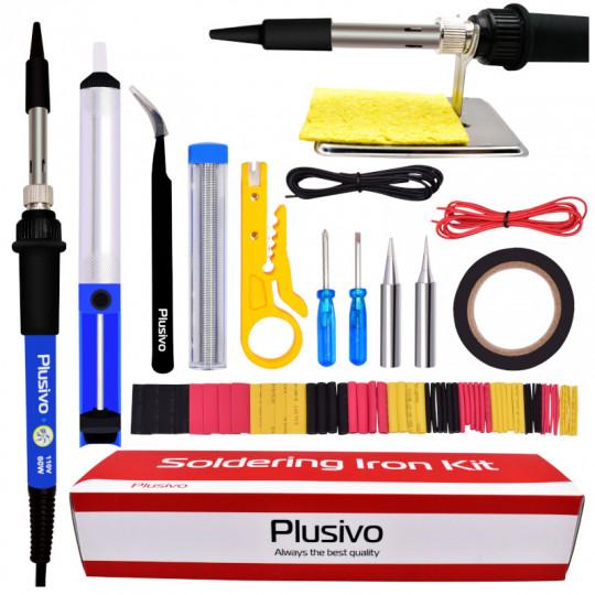 Plusivo Basic Soldering Kit for Electronics (110 V, Plug Type: US)