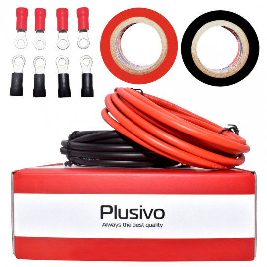Plusivo 12AWG Hook up Wire Kit - 600V Tinned Stranded Silicone Wire of 2 Different Colors x 3m/10 ft each