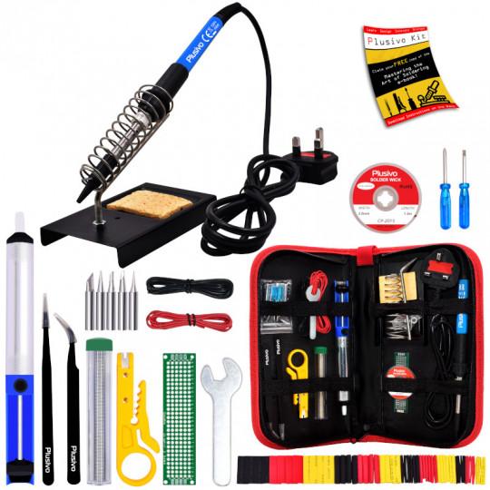 Plusivo Soldering Kit For Electronics (230 V, Plug Type: UK)