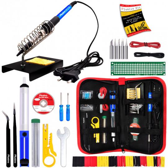 Plusivo Soldering Kit For Electronics (230 V, Plug Type: EU)